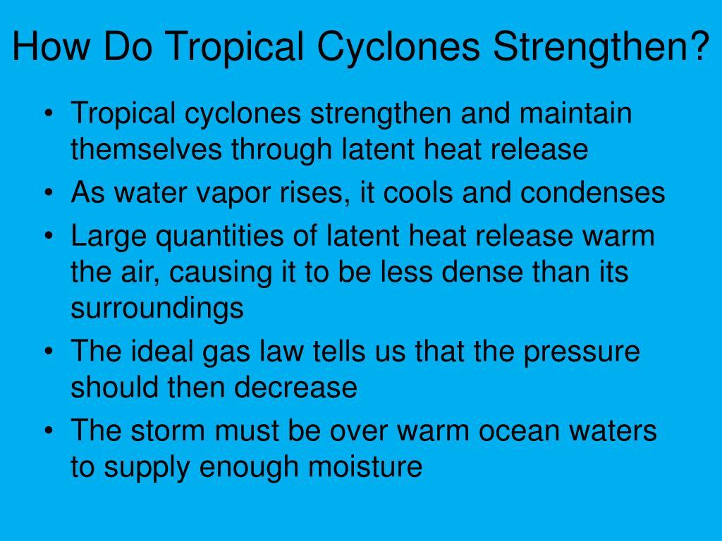 How Do Tropical Cyclones Strengthen?