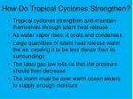 how do tropical cyclones strengthen