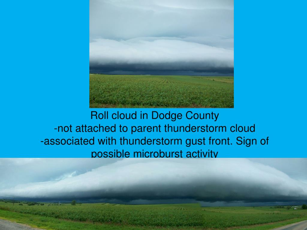 Roll cloud in Dodge County
