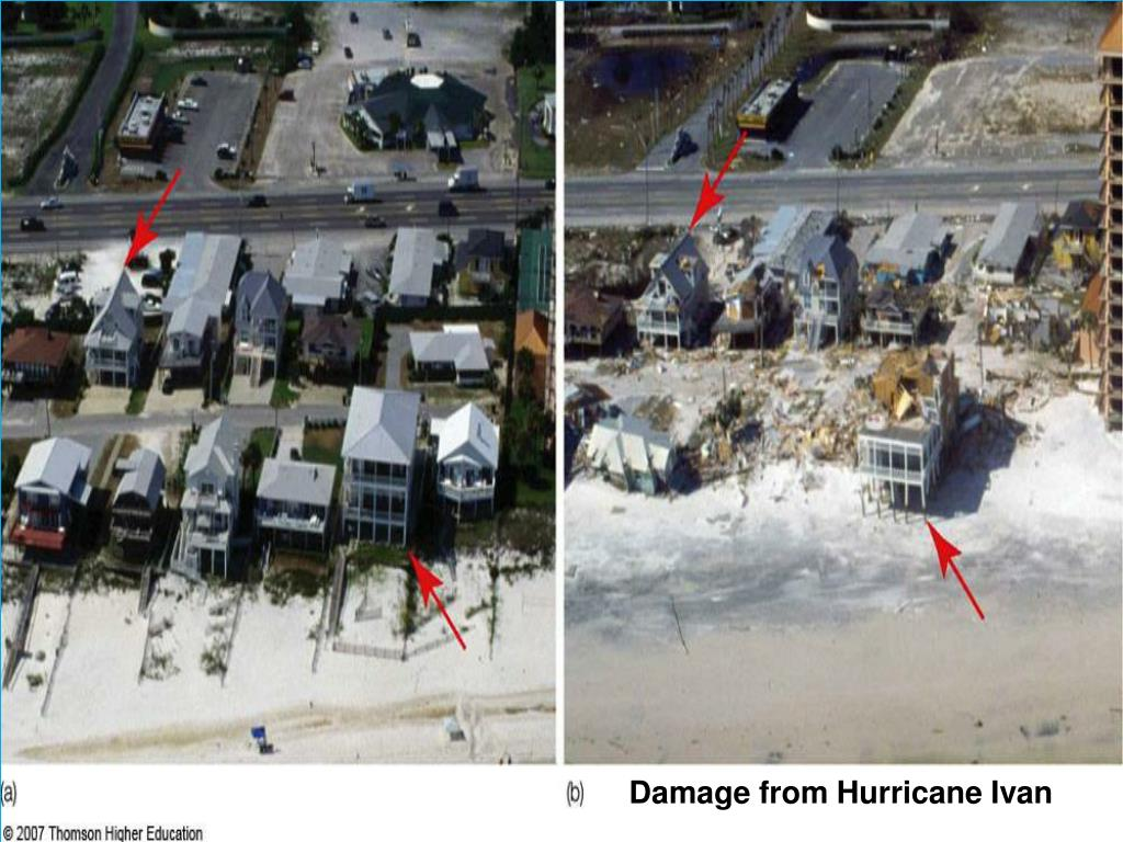 Damage from Hurricane Ivan