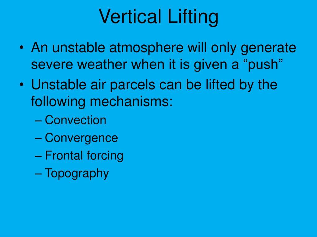 Vertical Lifting