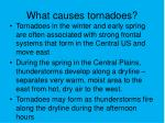 what causes tornadoes