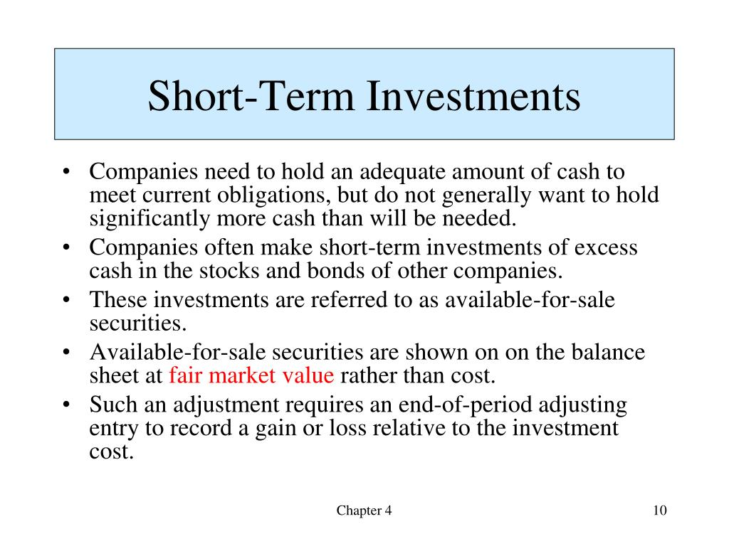 how to invest cash short term