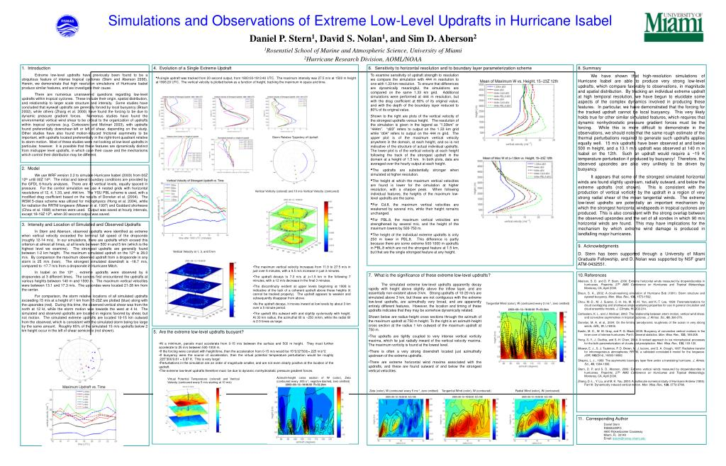 Simulations and Observations of Extreme Low-Level Updrafts in Hurricane Isabel