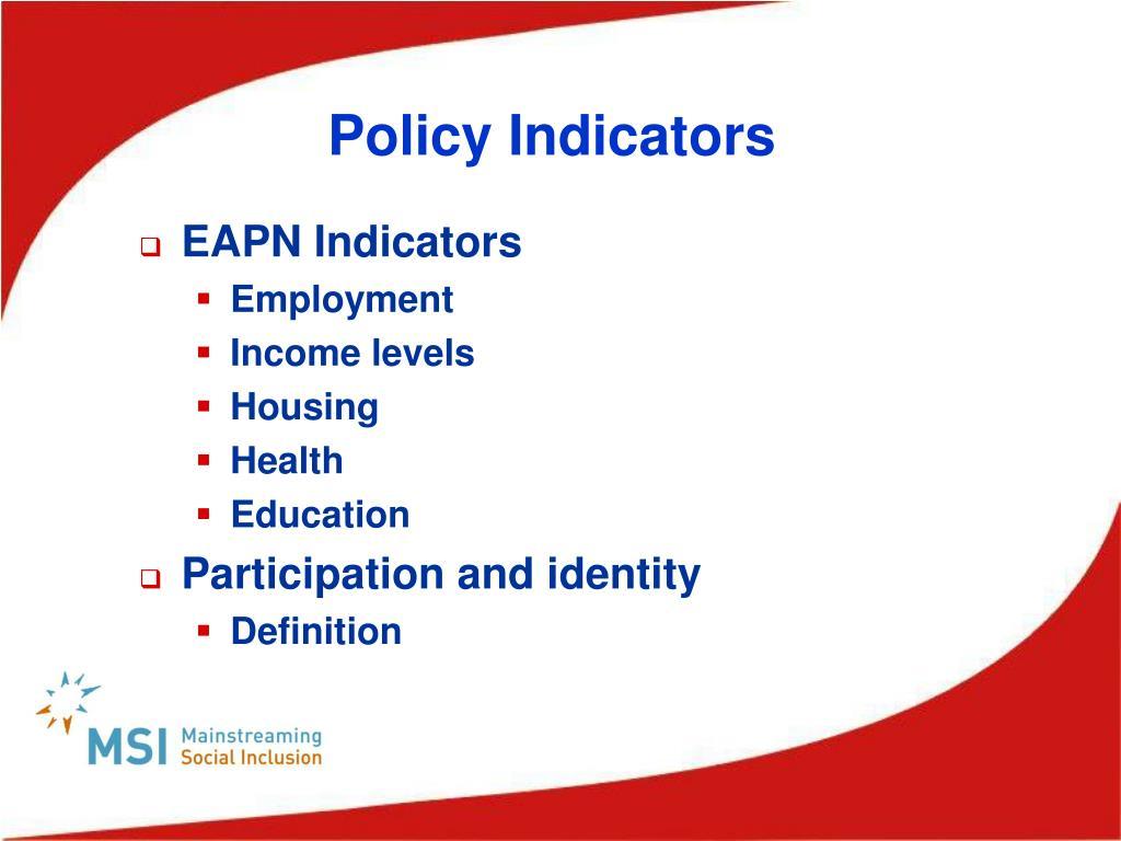 Policy Indicators