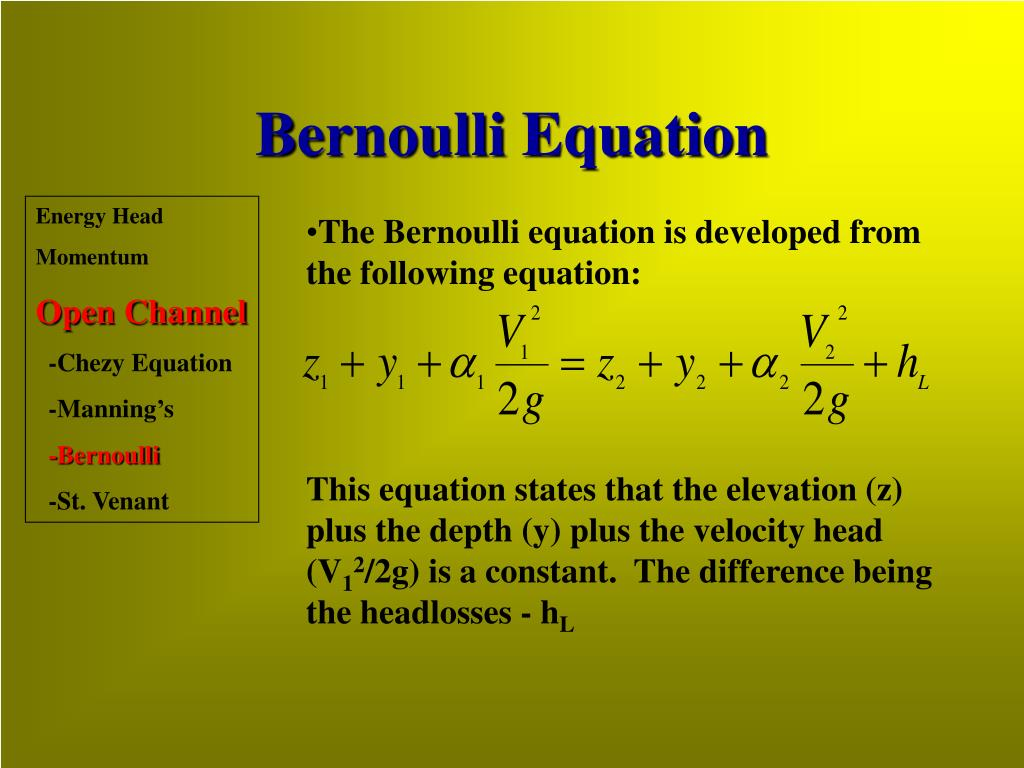 Bernoulli Equation