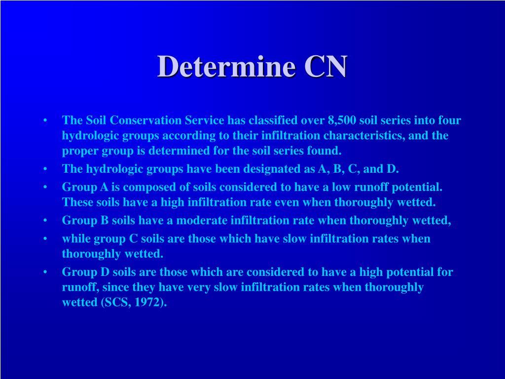 Determine CN