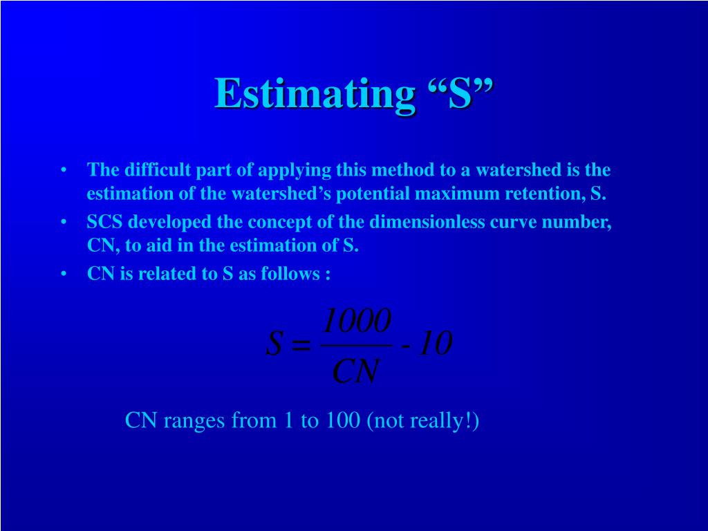 "Estimating ""S"""
