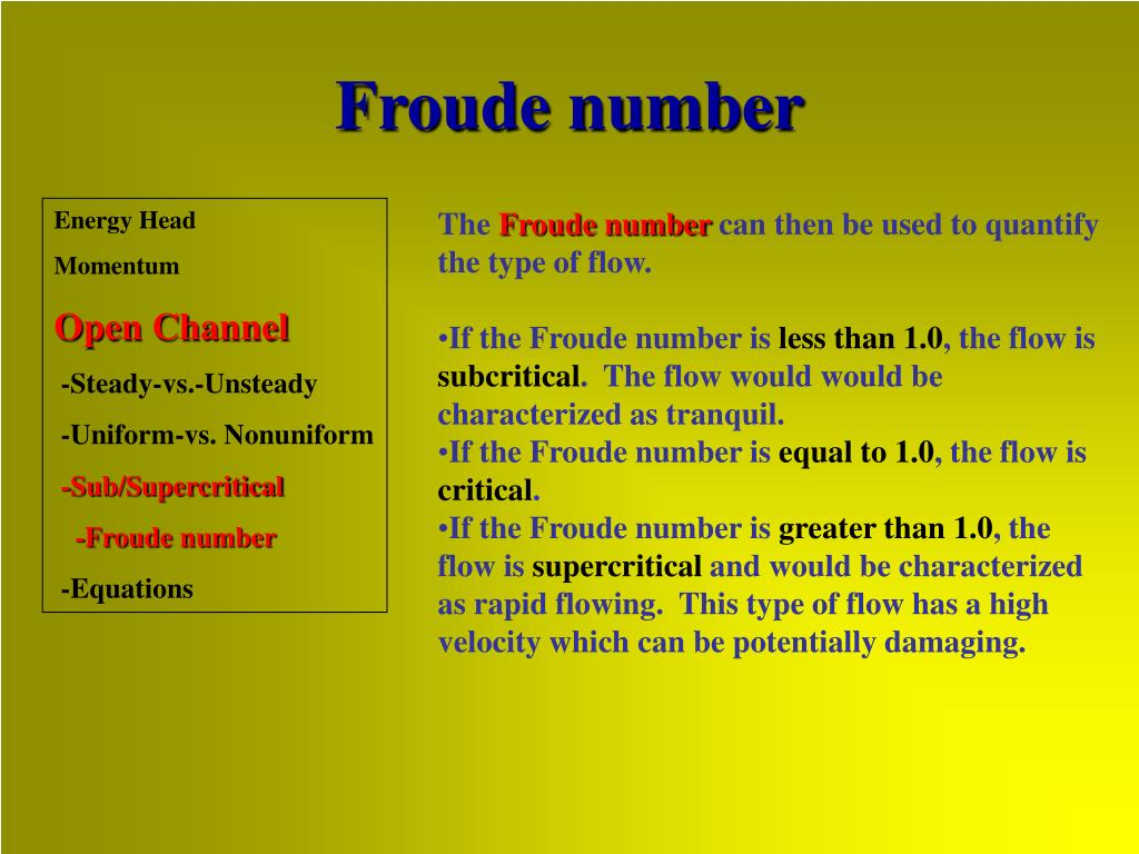 Froude number