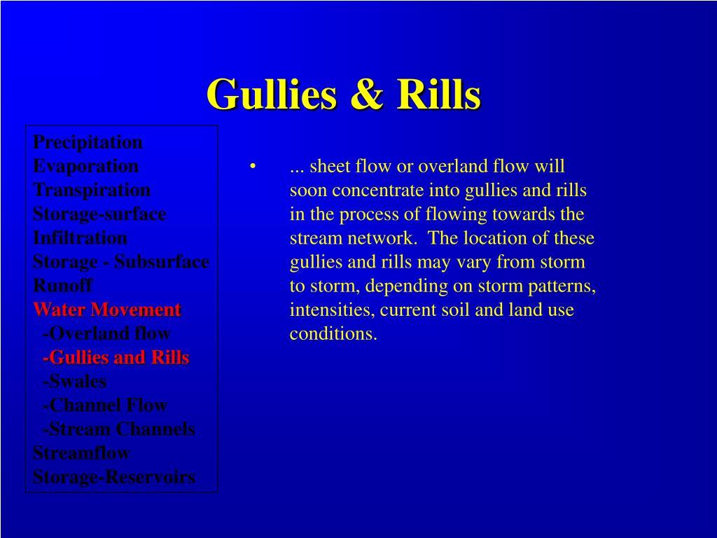 Gullies & Rills