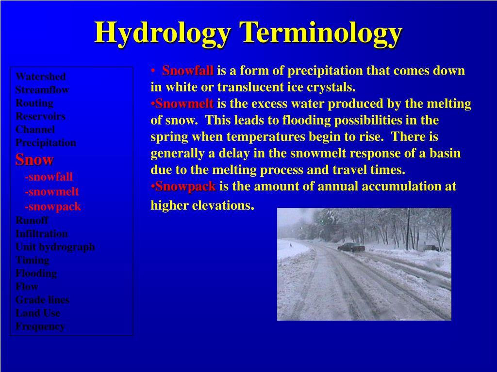 Hydrology Terminology