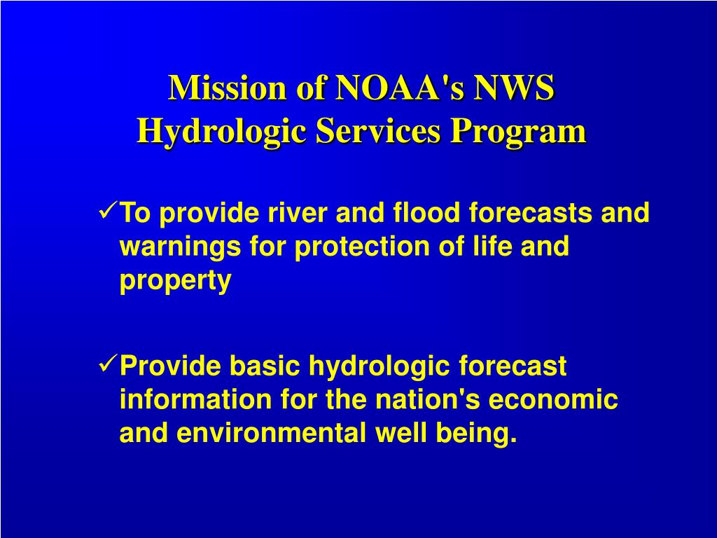 Mission of NOAA's NWS