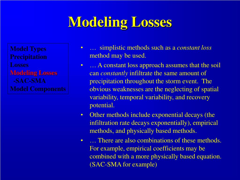 Modeling Losses