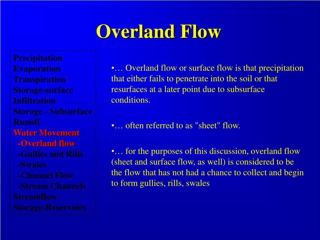 Overland Flow
