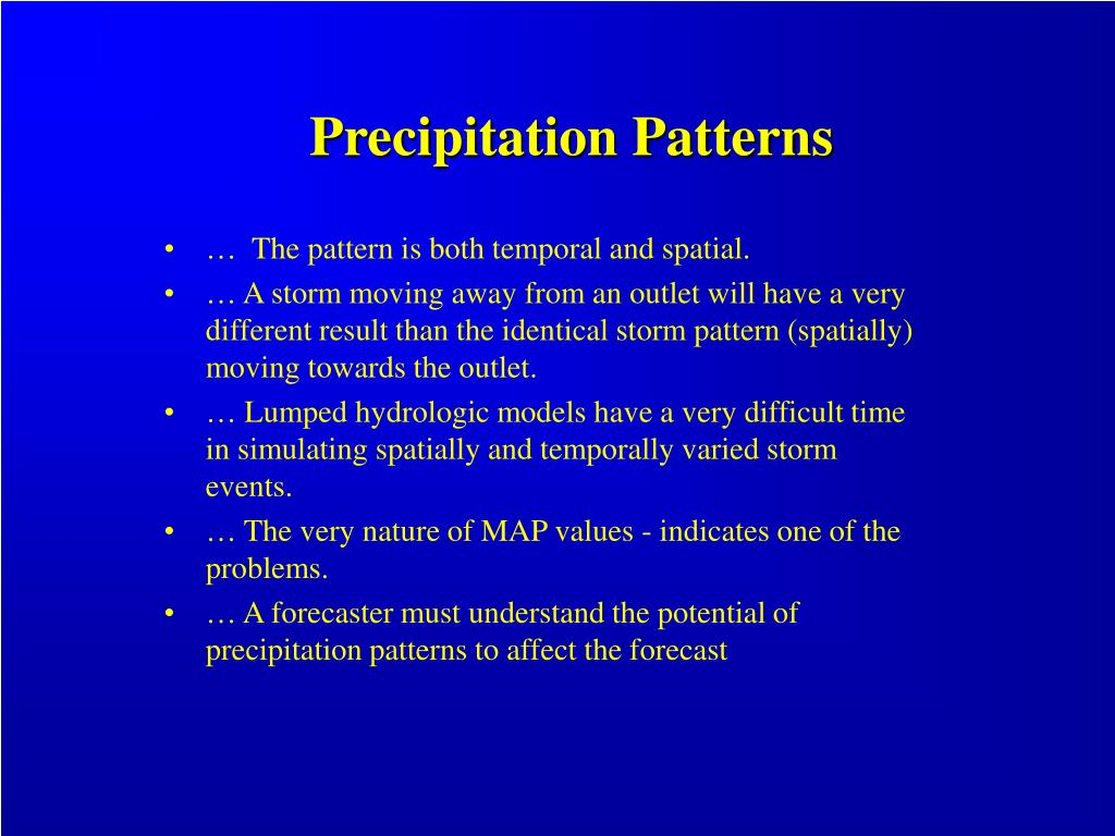 Precipitation Patterns