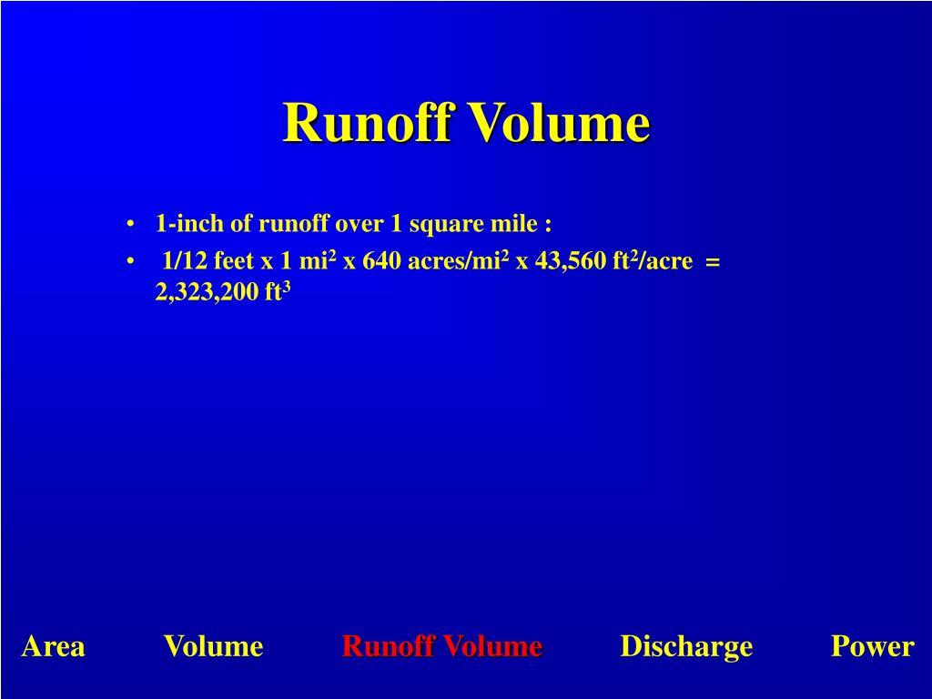 Runoff Volume