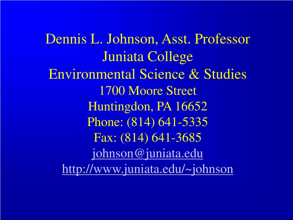 Dennis L. Johnson, Asst. Professor