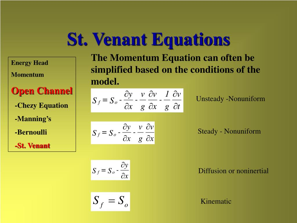 St. Venant Equations
