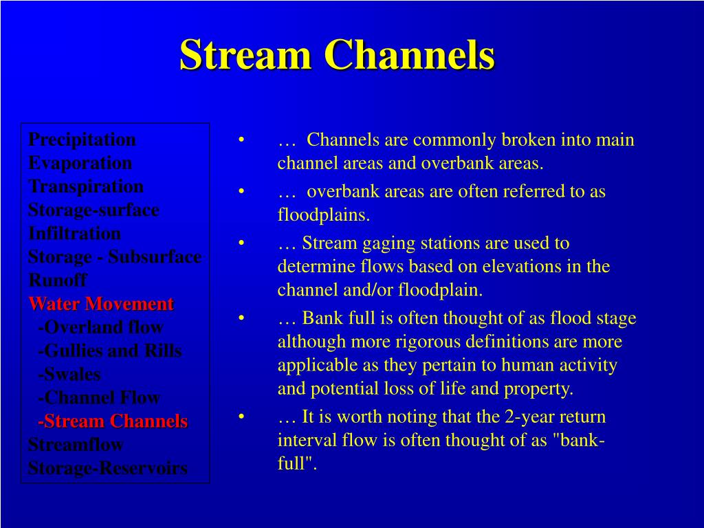 Stream Channels