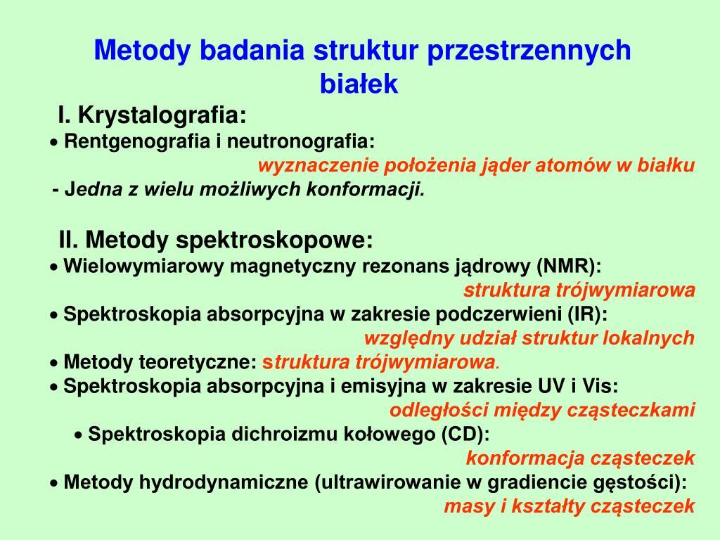 Metody badania struktur przestrzennych