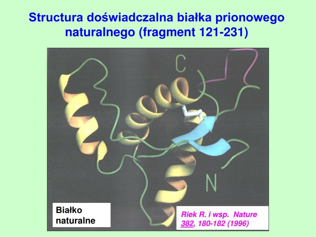 Structura doświadczalna białka prionowego naturalnego (fragment 121-231)