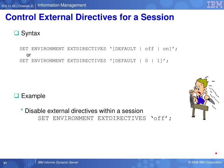 Control External Directives for a Session
