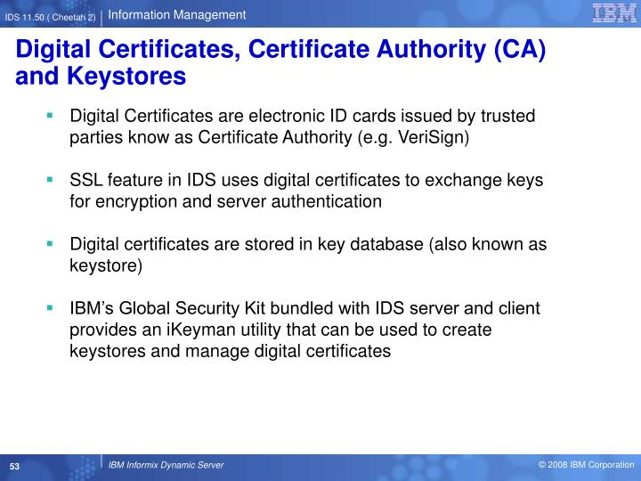 Digital Certificates, Certificate Authority (CA) and Keystores