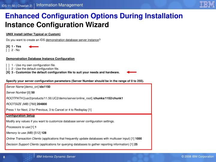 Enhanced Configuration Options During Installation