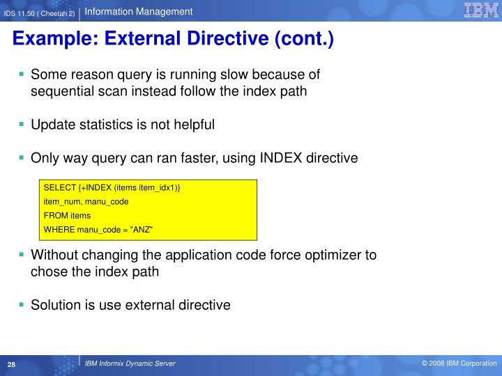 Example: External Directive (cont.)