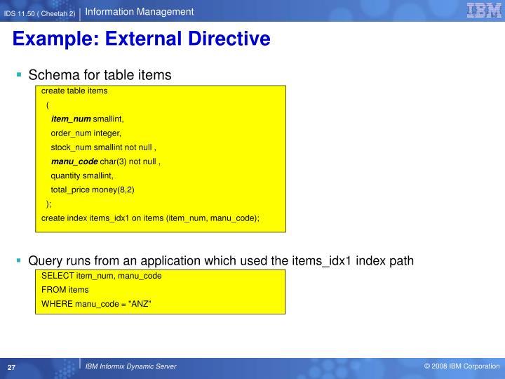 Example: External Directive