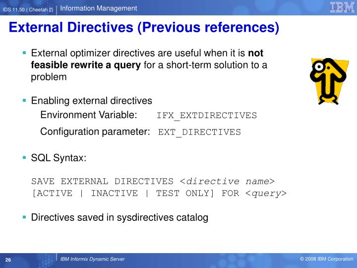 External Directives (Previous references)