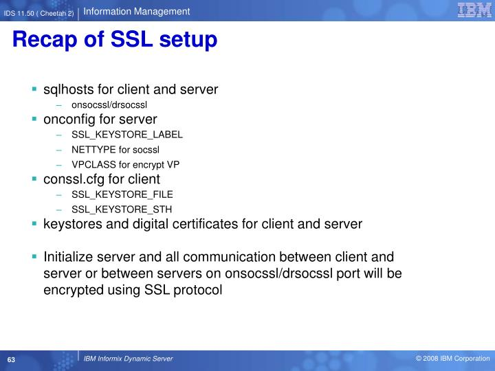 Recap of SSL setup