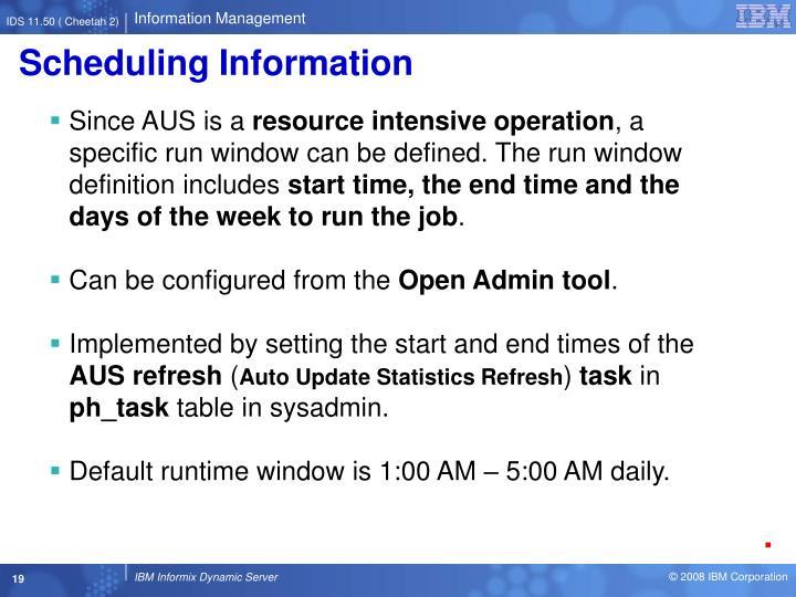 Scheduling Information