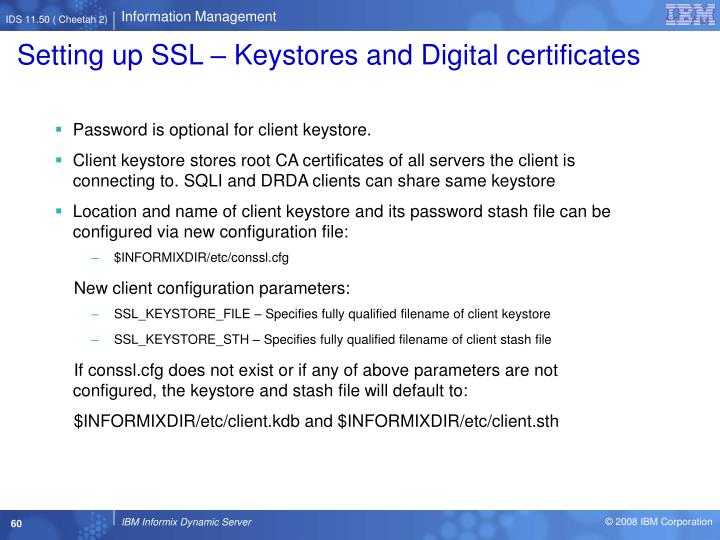 Setting up SSL – Keystores and Digital certificates