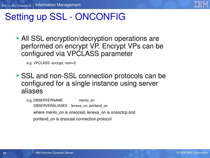 Setting up SSL - ONCONFIG