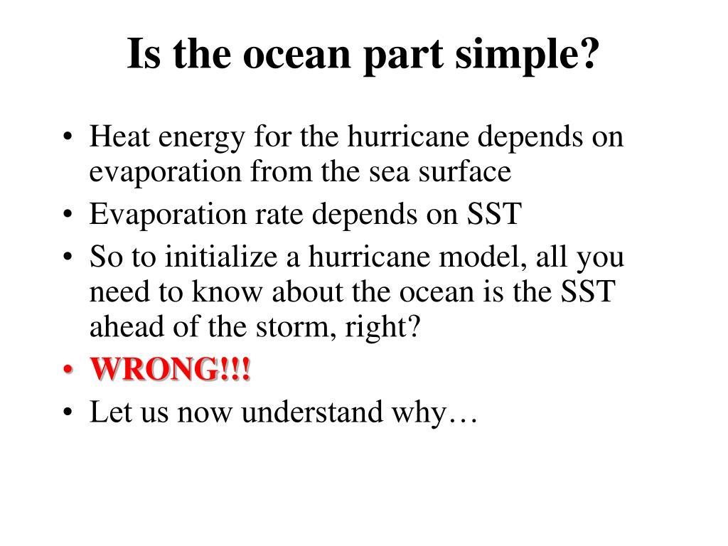 Is the ocean part simple?