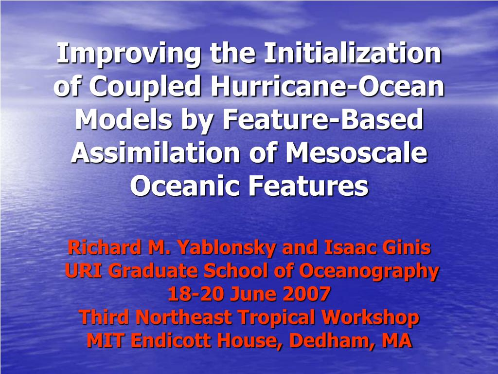 Improving the Initialization of Coupled Hurricane-Ocean Models by Feature-Based Assimilation of Mesoscale Oceanic Features