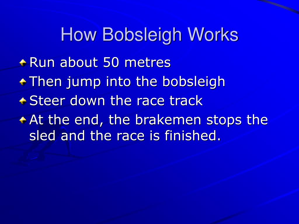 How Bobsleigh Works