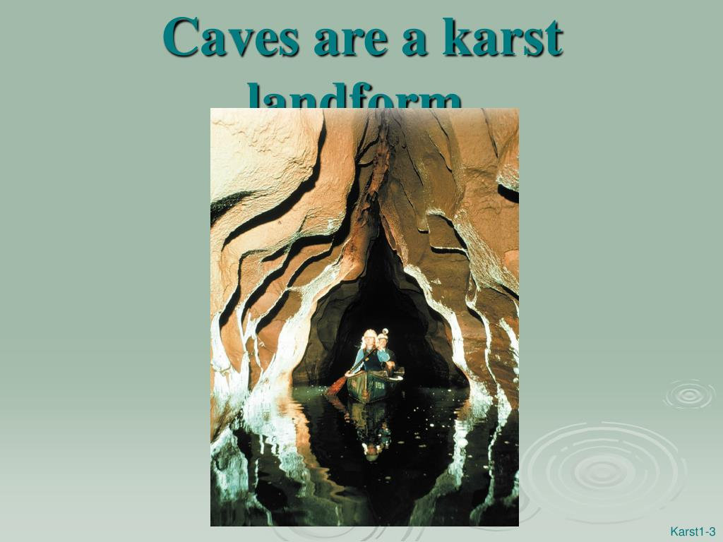 Caves are a karst landform.