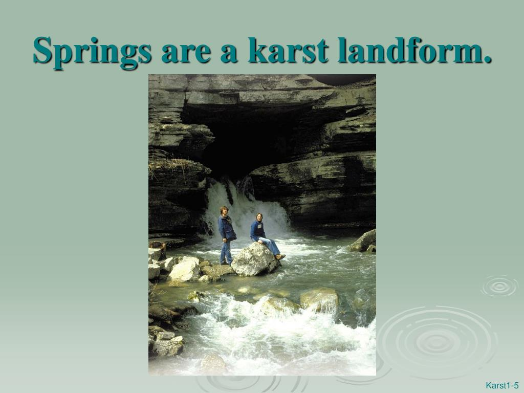 Springs are a karst landform.