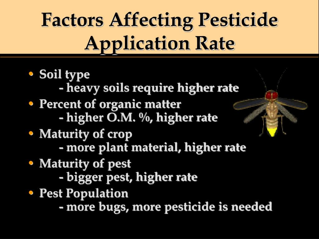 Factors Affecting Pesticide