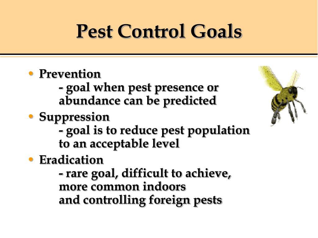 Pest Control Goals