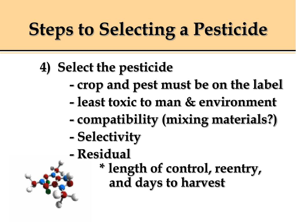 Steps to Selecting a Pesticide