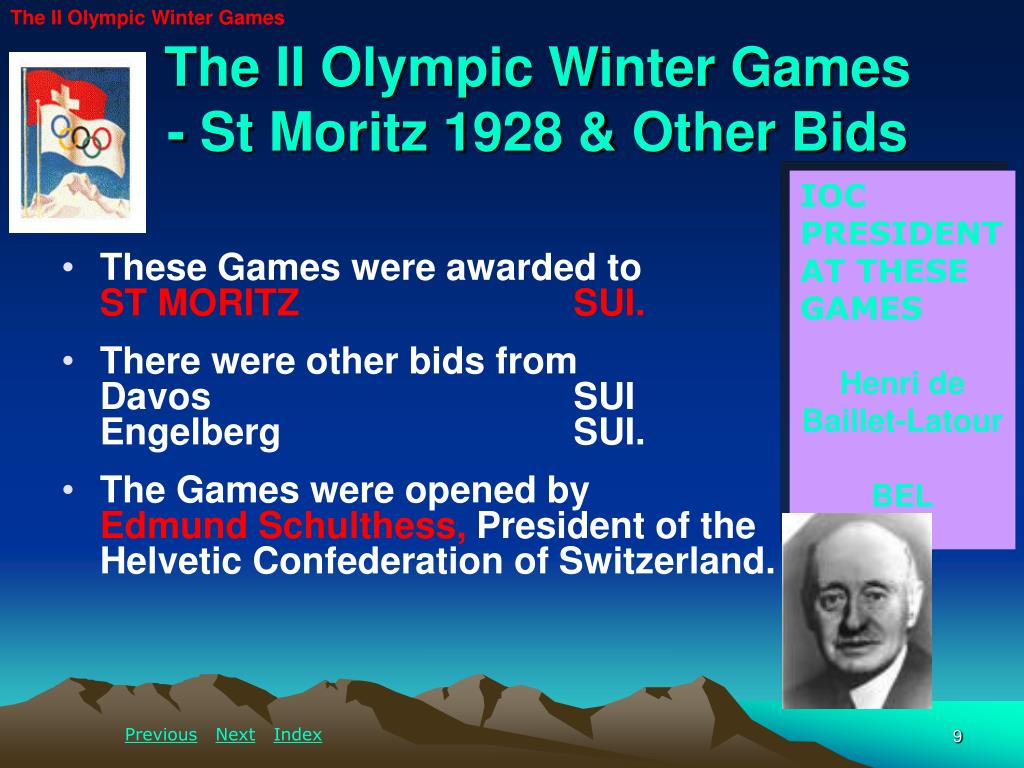 The II Olympic Winter Games