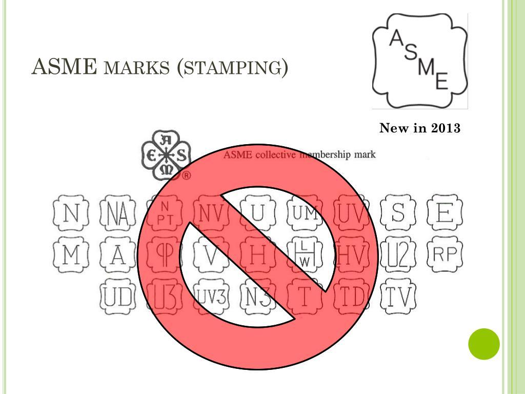 ASME marks (stamping)