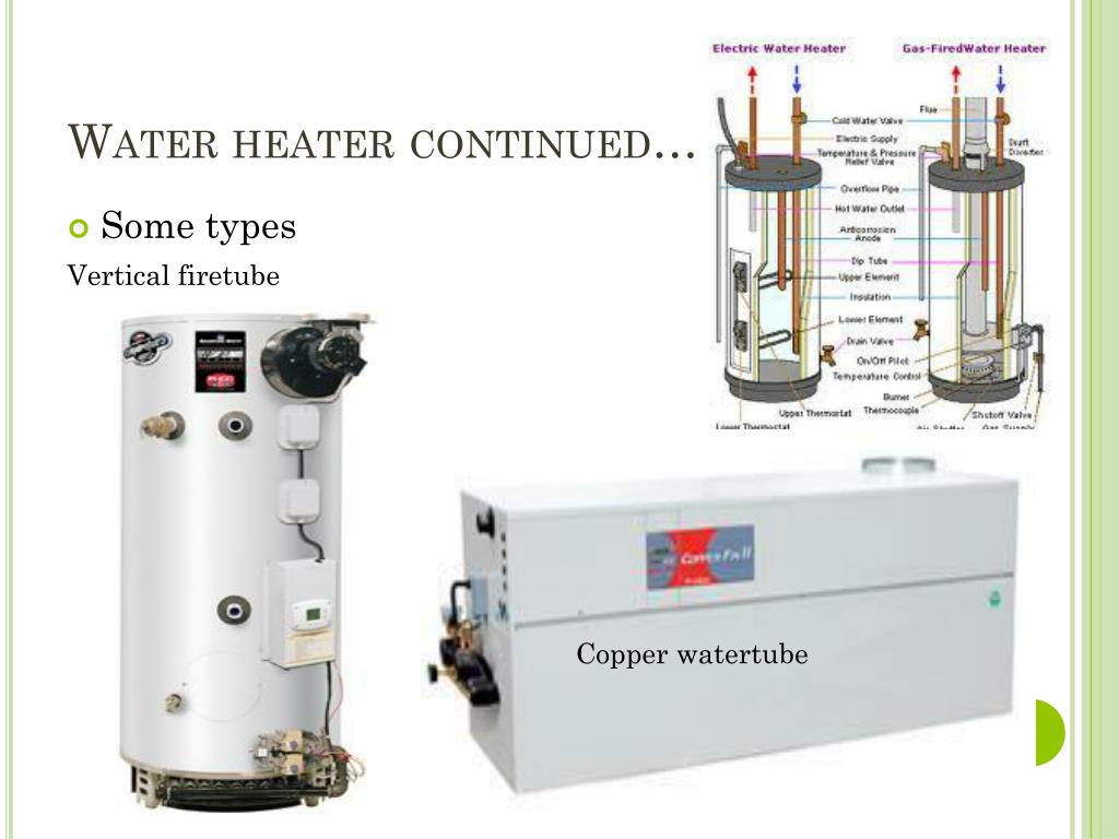 Water heater continued…