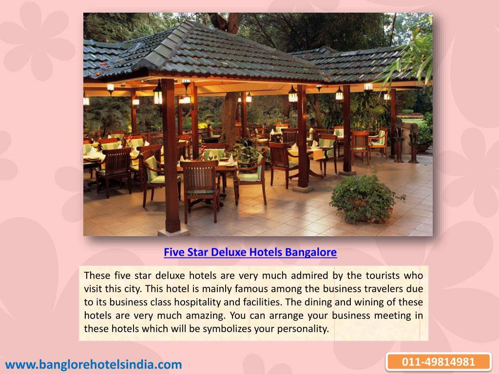 Five Star Deluxe Hotels Bangalore