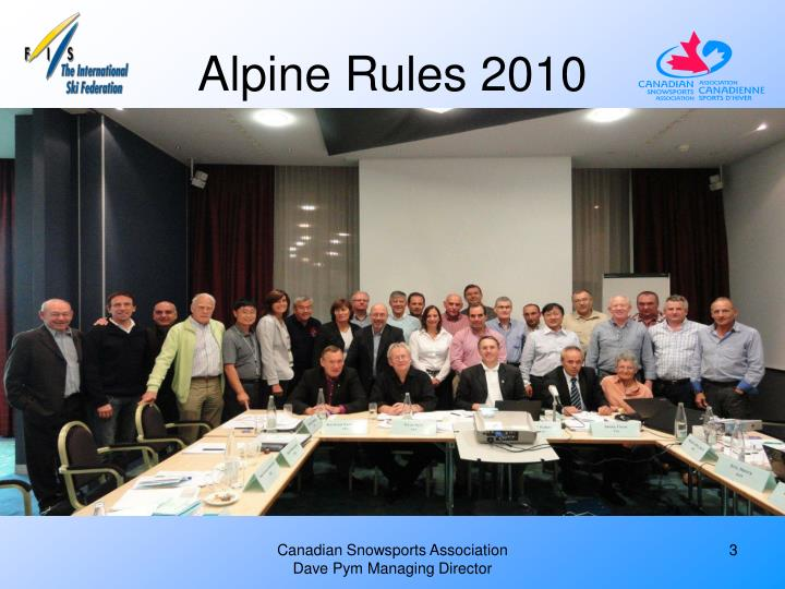 Alpine rules 2010