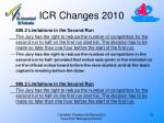 icr changes 201012