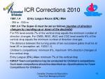 icr corrections 201010